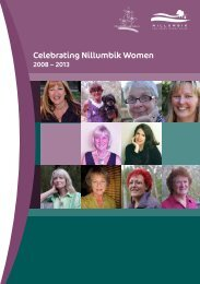 Celebrating Nillumbik Women - Nillumbik Shire Council