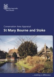 Conservation Area Appraisal St Mary Bourne and Stoke