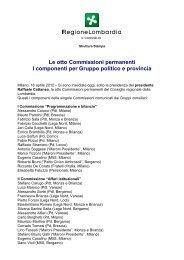 composizione Commissioni permanenti - L'Eco di Bergamo