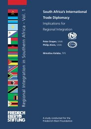 South Africa's International Trade Diplomacy - Bibliothek der ...