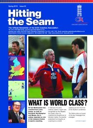 Hittng the Seam - Issue 23 - Ecb