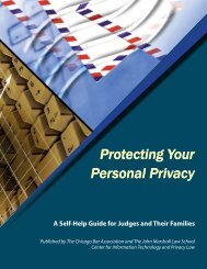 Protecting Your Personal Privacy Protecting Your Personal Privacy