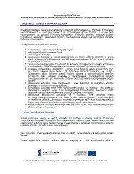 Szczegółowy Opis Zadania - Ministerstwo Rozwoju Regionalnego
