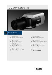 LTC 0435 & LTC 0455 - Bosch Security Systems