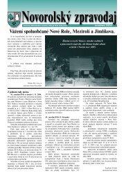 Novorolský zpravodaj 12/04 - Nová Role