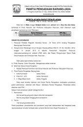 PANITIA PENGADAAN BARANG/JASA - Kabupaten Pasuruan