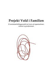 4. Projekt Vold i Familien - Socialstyrelsen