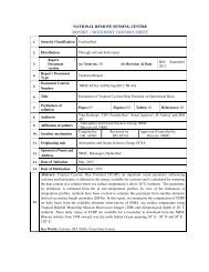 report / document control sheet - NRSC Open EO Data Archive ...