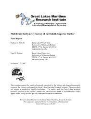 Multibeam Bathymetry Survey of the Duluth-Superior Harbor