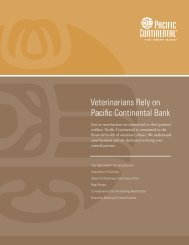 Veterinarians - Pacific Continental Bank
