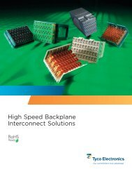 High Speed Backplane Interconnect Solutions - TE Connectivity