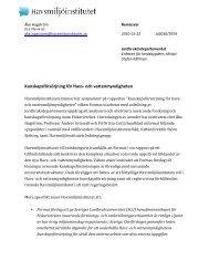 Kunskapsförsörjning för Havs-‐ och ... - Havsmiljöinstitutet