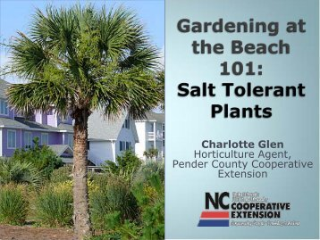 Salt Tolerant Plants Presentation - Pender County Center