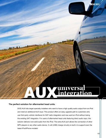 AUXintegration universal - iPhone Car Adapters