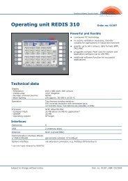 Operating unit REDIS 310 - Herkules-Resotec Elektronik GmbH
