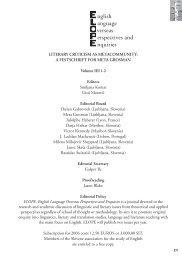 LITERARY CRITICISM AS METACOMMUNITY: A FESTSCHRIFT ...