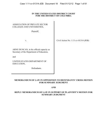 court filing - Inside Higher Ed