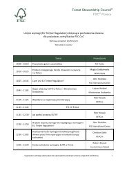 plan konferencji - fsc.org - Forest Stewardship Council