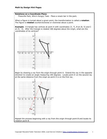 Rotations on a Coordinate Plane - Math by Design - Thinkport