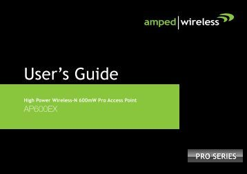 User's Guide - Amped Wireless