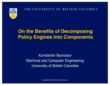 Policy - LERSSE - University of British Columbia