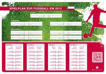 SPIELPLAN ZUR FUSSBALL-EM 2012 - Ramada Hotels