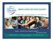 MEDICATION RECONCILIATION - Health Care Quality Summit