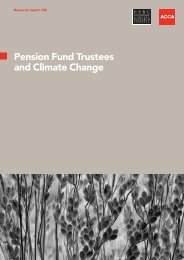 Pension Fund Trustees and Climate Change - ACCA