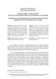 Ramón del Cuvillo Jiménez* COMENTARIOS A LA RECENSIÓN ...