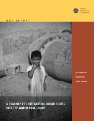 a roadmap for integrating human rights into the world bank group