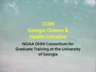 GOHI Georgia Oceans & Health Initiative - The Oceans and Human ...