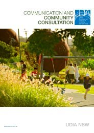COMMUNICATION AND COMMUNITY CONSULTATION UDIA NSW
