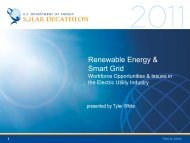 Renewable Energy and Smart Grid: Workforce ... - Solar Decathlon