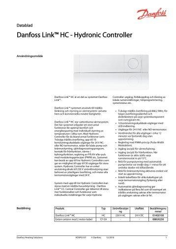 Danfoss Link™ HC - Hydronic Controller - Danfoss Värme
