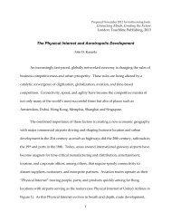 The Physical Internet and Aerotropolis Development