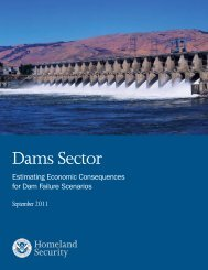 Estimating Economic Consequences for Dam Failure Scenarios