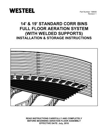SC Full Floor System INSTALLATION INSTRUCTIONS.pdf - Westeel