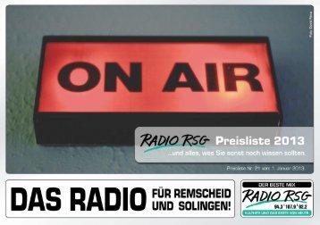 ßL/O R56' Preisliste 2013 - Radio RSG