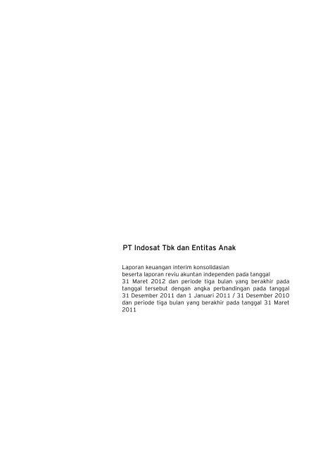 Laporan Keuangan Tahun 2012 - Indosat