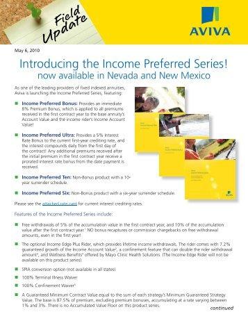 Income Preferred in NM.indd - ECA Marketing