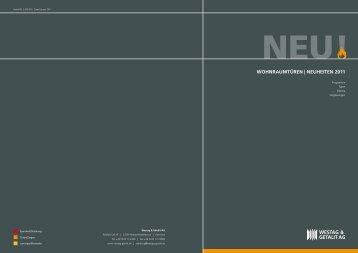 WOHNRAUMTüREN | NEUHEITEN 2011 - Kataloge