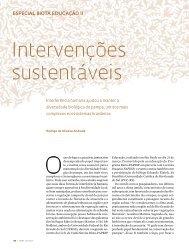 intervenções sustentáveis - Revista Pesquisa FAPESP