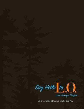 Lake Oswego Strategic Marketing Plan - City of Lake Oswego