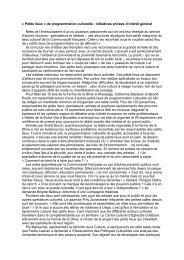 « Petits lieux » de programmation culturelle : initiatives privées d ...