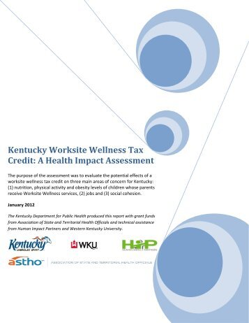 Kentucky Worksite Wellness Tax Credit - Health Impact Project