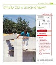 Zdění, betonování a omítání