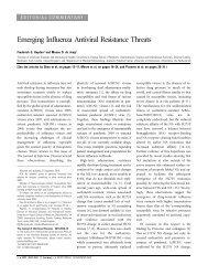 Emerging Influenza Antiviral Resistance Threats - Biocence