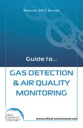 Gas DetectION & aIr QualIty MONItOrING - Critical Environment ...