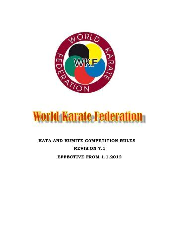 WKF Rules Version 7.1.pdf - Karate New Brunswick