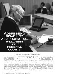 Addressing disability and promoting wellness federal courts